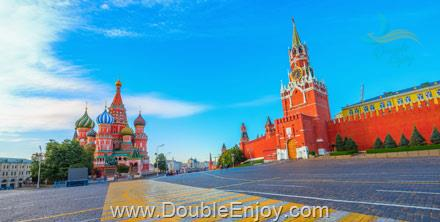 DE456 : โปรแกรมทัวร์รัสเซีย มอสโคว์ เซนต์ปีเตอร์สเบิร์ก 6 วัน 4 คืน (KC)