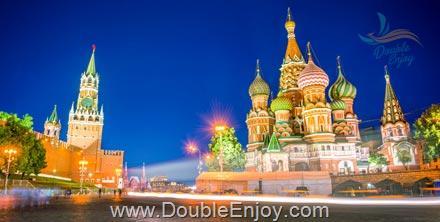 DE486 : โปรแกรมทัวร์รัสเซีย มอสโคว เซนต์ปีเตอร์สเบิร์ก 7 วัน 5 คืน (TG)