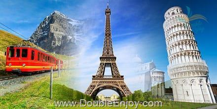 DE598 : ทัวร์ยุโรปตะวันตก อิตาลี (โรม) สวิส (จุงเฟรา) ฝรั่งเศส 10 วัน 7 คืน (TG)