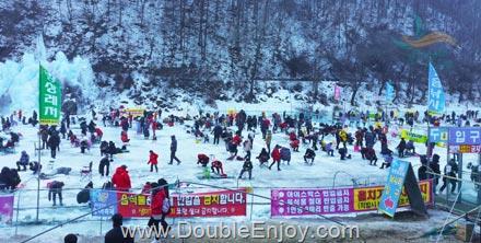 DE632 : โปรแกรมทัวร์เกาหลี เทศกาลตกปลาน้ำแข็ง ชมงานประดับไฟอูจูการ์เด้น 5 วัน 3 คืน (XJ)