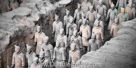 DE669 : ทัวร์จีน ซีอาน สุสานกองทัพทหาร ถ้ำหินแกะสลักหลงเหมิน [ไม่ลงร้านช้อป] 5 วัน 4 คืน (FD)