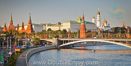 DE755 : โปรแกรมทัวร์รัสเซีย เซนต์ปีเตอร์สเบิร์ก ล่องเรือแม่น้ำมอสโคว์ [Moskva Cruise] 8 วัน 5 คืน (EY)