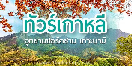 DE398 : โปรแกรมทัวร์เกาหลี อุทยานซอรัคซาน ใบไม้เปลี่ยนสี 6 วัน 3 คืน (XJ)
