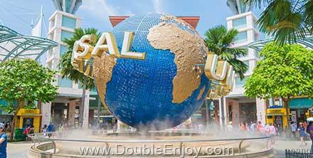 DE902 : โปรแกรมทัวร์สิงคโปร์ Universal Studios(รวมค่าบัตรแล้ว) มารีน่า เบย์ แซนด์ 3 วัน 2 คืน (SQ)
