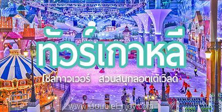 DE394 : โปรแกรมทัวร์เกาหลี โซล อินชอน สวนสนุก Lotte World ชมดอกซากุระ 5 วัน 3 คืน (XJ)