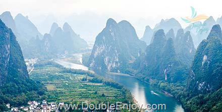 DE870 : ทัวร์กุ้ยหลิน เขาเซียงกง หยางซั่ว ล่องแพแม่น้ำหลีเจียง นั่งรถไฟความเร็วสูง 6 วัน 3 คืน (ZH)