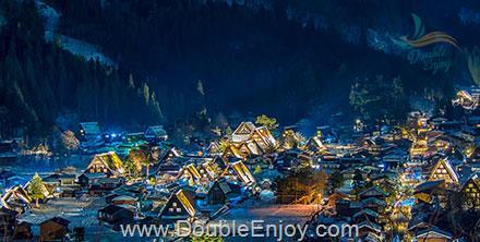 DE470 : โปรแกรมทัวร์ญี่ปุ่น โอซาก้า โตเกียว สกี หมู่บ้านชิราคาวาโกะ 5 วัน 3 คืน (XJ)
