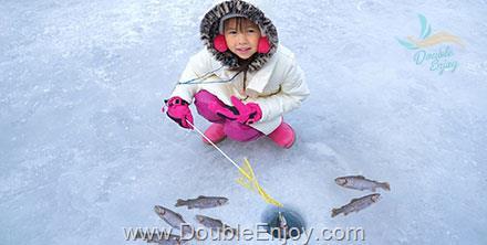 DE255 : โปรแกรมทัวร์เกาหลี เทศกาลตกปลา ลานสกี สวนสนุกเอเวอร์แลนด์ 5 วัน 3 คืน (XJ)